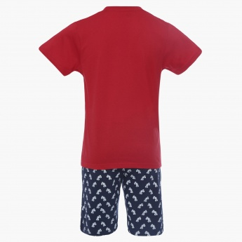 MAX Graphic Print T-Shirt Shorts Sleepwear