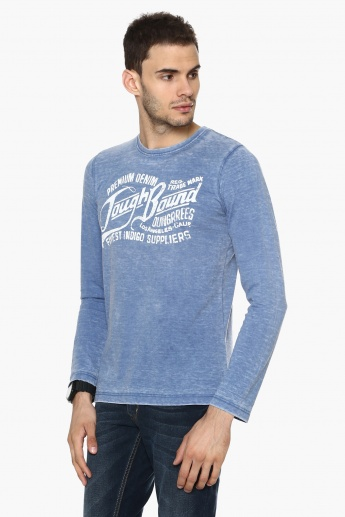 MAX Acid Wash Finish Crew Neck T-Shirt