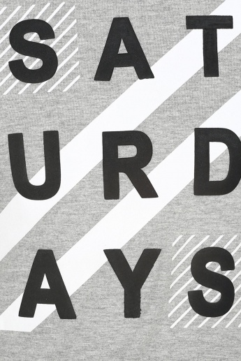 MAX Saturdays Imprint Crew Neck T-Shirt