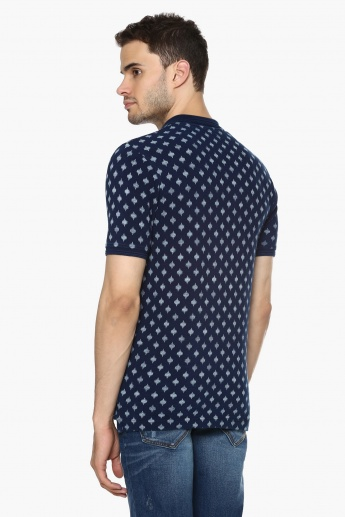 MAX Printed Polo Neck T-Shirt