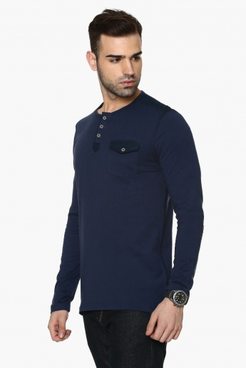MAX Solid Henley T-Shirt