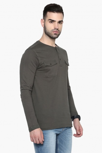 MAX Chest Pocketed Henley T-Shirt