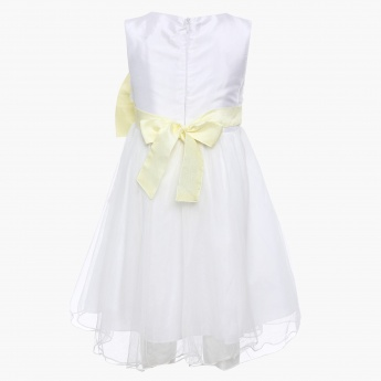 MAX Big Bow Sleeveless Party Frock
