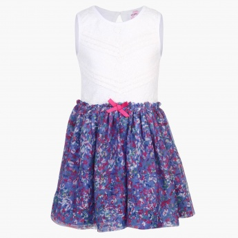 MAX Sleeveless Floral Fall Dress