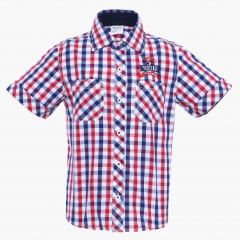 MAX Gingham Checks Short Sleeves Shirt