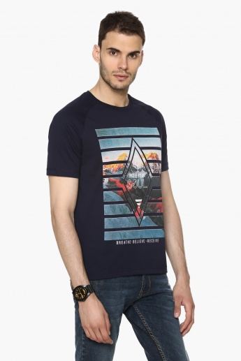 MAX Graphic Print Crew Neck T-Shirt