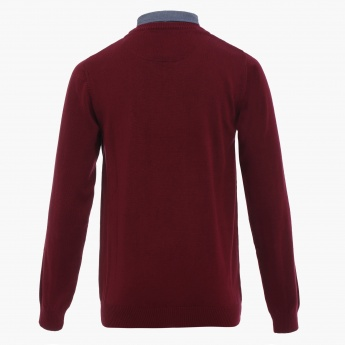 MAX Mock Collar Knitted T-Shirt