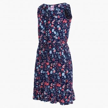 MAX Floral Print Sleeveless Dress