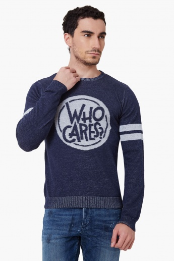 MAX Knitted Crew Neck Full Sleeves Sweater