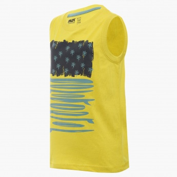 MAX Chest Imprint Sleeveless T-Shirt