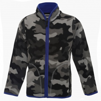 MAX Military Print Zip-Up Sweatshirt