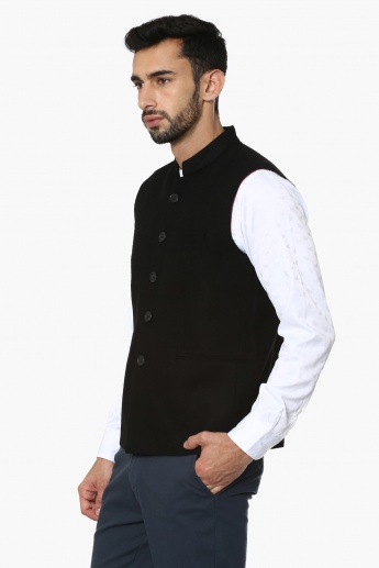 MAX Solid Nehru Jacket