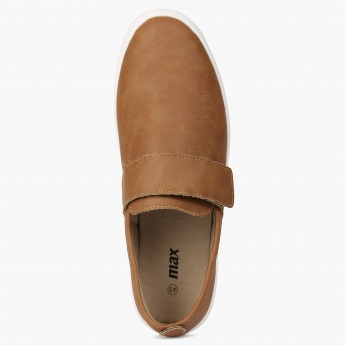MAX Velcro Closure Tan Slip-Ons