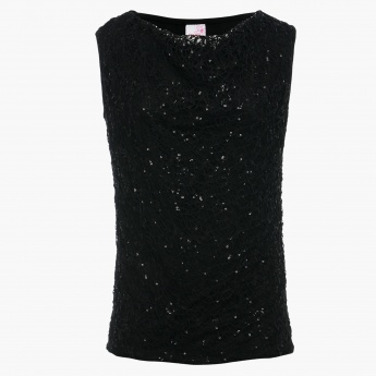MAX Sequinned Overlay Party Top