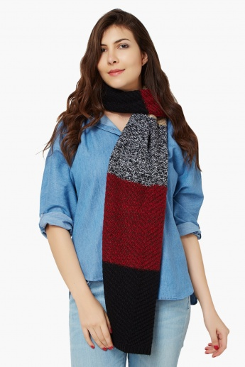 MAX Knitted Striped Muffler