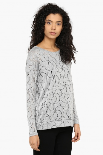 MAX Perforated Spirals Full Sleeves Top