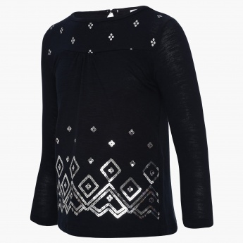 MAX Sequin Lines Top