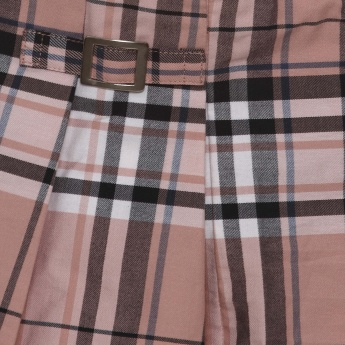 MAX Checked Skater Skirt