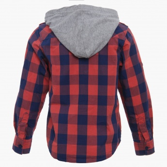 MAX Hooded Check Shirt