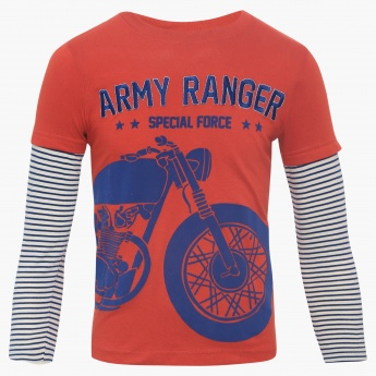 Max Army Ranger T Shirt Red