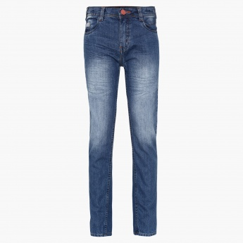 MAX Stonewashed Five-Pocket Jeans