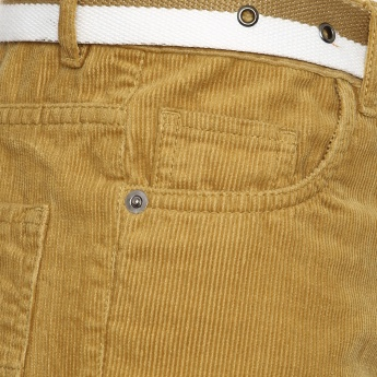 MAX Belted Corduroy Pants