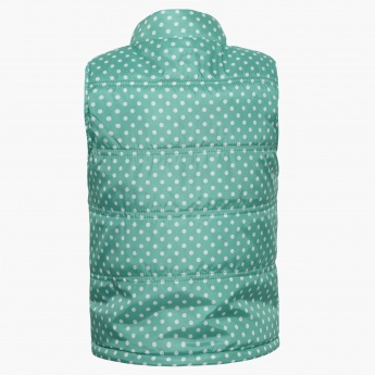 MAX Polka Dot Sleeveless Jacket