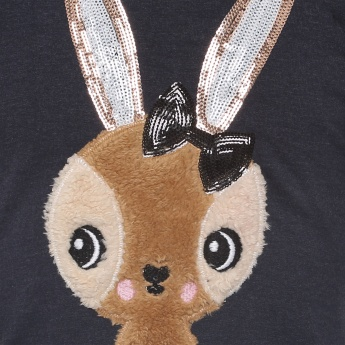 MAX Sequinned Ear Bunny Sweatshirt