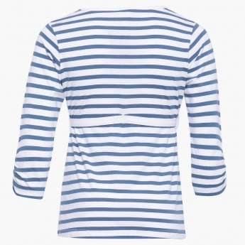 MAX Sequinned Striped T-Shirt