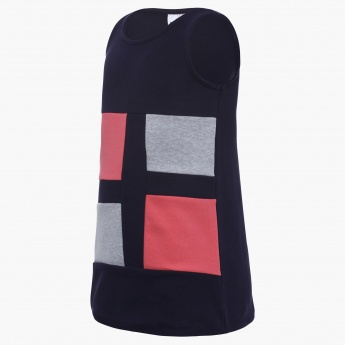 MAX Contrast Patch Dress