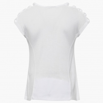 MAX Girl Imprint Round Neck Top