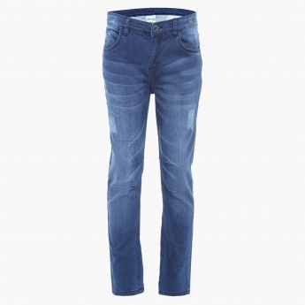 MAX Stonewashed Whiskered Jeans