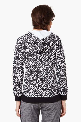 MAX Heart Print Hooded Jacket