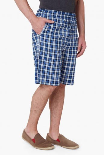 MAX Checked Casual Shorts