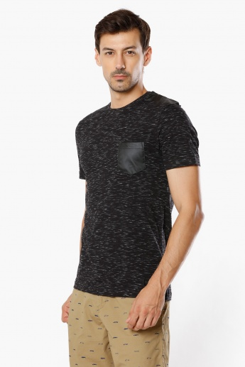 MAX Patch Chest Pocket Crew Neck T-Shirt
