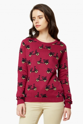 MAX Scooter Knit Full Sleeves Sweater