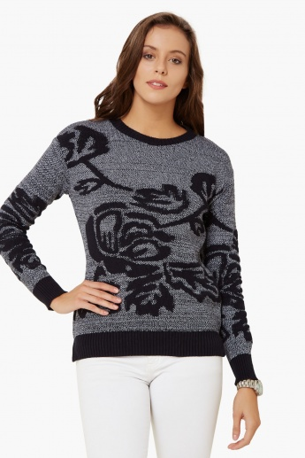MAX Leafy Love Full Sleeves Sweater