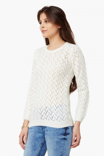 MAX Flat Knit Full Sleeves Top