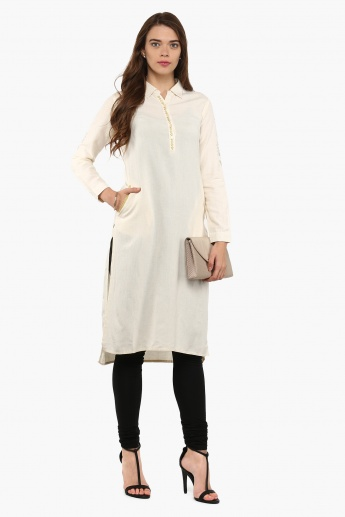 MAX Shirt Collar Hi-Low Kurta