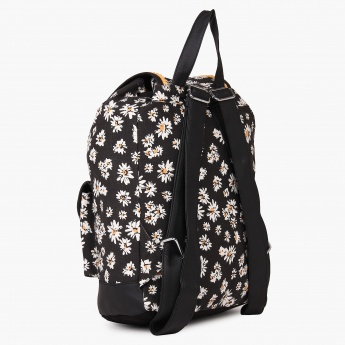 MAX Daisy Print Canvas Backpack