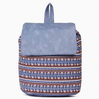 MAX Printed Canvas Backpack