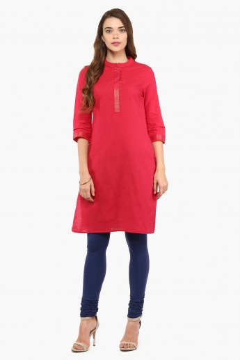 MAX Solid Band Collar Kurta