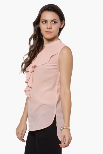MAX Frill Trim Sleeveless Blouse