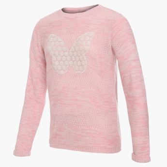 MAX Butterfly Patch Sweater