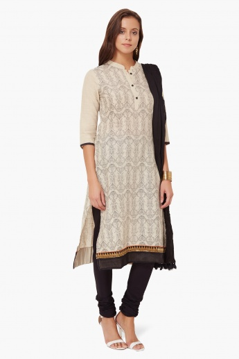 MAX Printed Kurta Churidar Dupatta Set