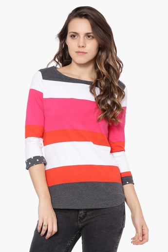 MAX Striped Knitted Top
