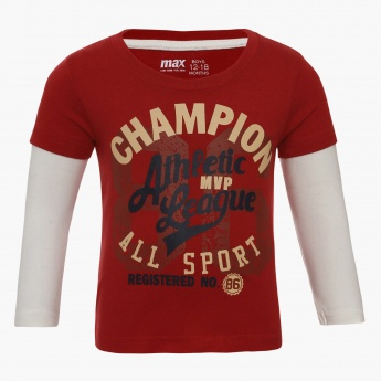 MAX Champion Layered Sleeves T-Shirt