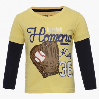 MAX Catch Ball Layered Sleeves T-Shirt
