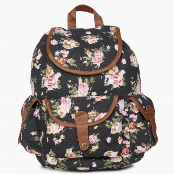 MAX Floral Print Canvas Backpack