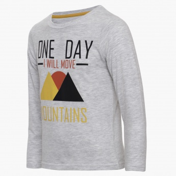 MAX Mountain Print T-Shirt